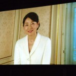 ビデオメッセージを寄せる吉永小百合さん