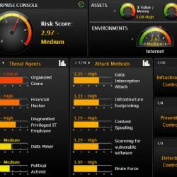 セキュリティシステムのダッシュボード画面