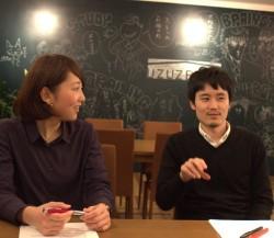 カウンセラーの川畑翔太郎さん(右)と、御代田侑佳さん(左)