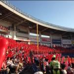 毎試合、スタンドが真っ赤に染まる(写真はQVCマリンフィールド)