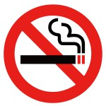 ここではタバコを吸わないでください!