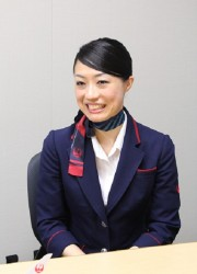 グランドスタッフとして勤務する渡邉麻友美さん