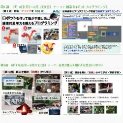 「丸の内キッズアカデミー2015」のウェブサイトより