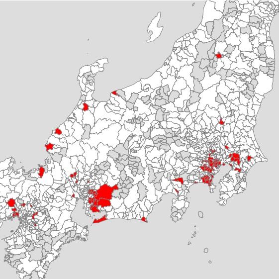 年収1000万円以上世帯が8%を超える地域(「世帯の年収マップ」より)