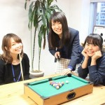 平成広報女子会から今回の担当者3人。左から吉田陽香(エストコーポレーション)、高橋里衣(SPinno)、國府田奈女(ウィルゲート)