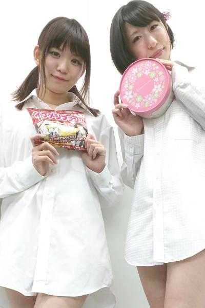 優月心菜さん(左)と成海かんなさん