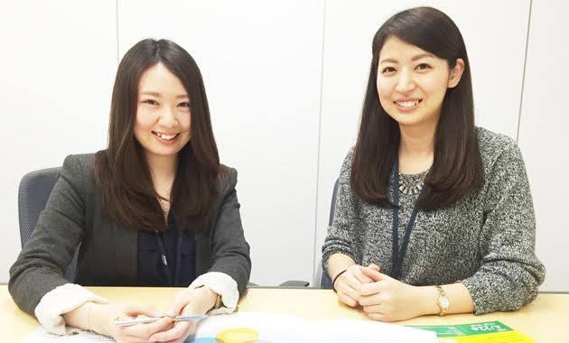 スターティアの新卒採用担当、五十嵐結香子さん(左)と丹祐希代さん