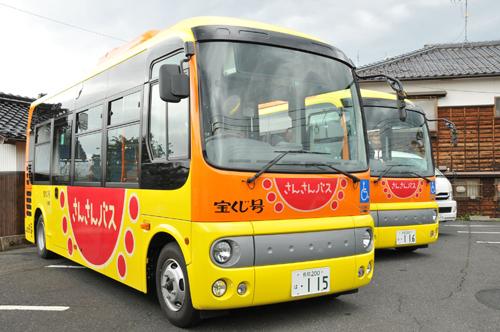 2020年の自動運転化を目指す町営「さんさんバス」