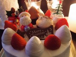 一人で食べるクリスマスケーキ