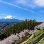 富士吉田市から見える富士山