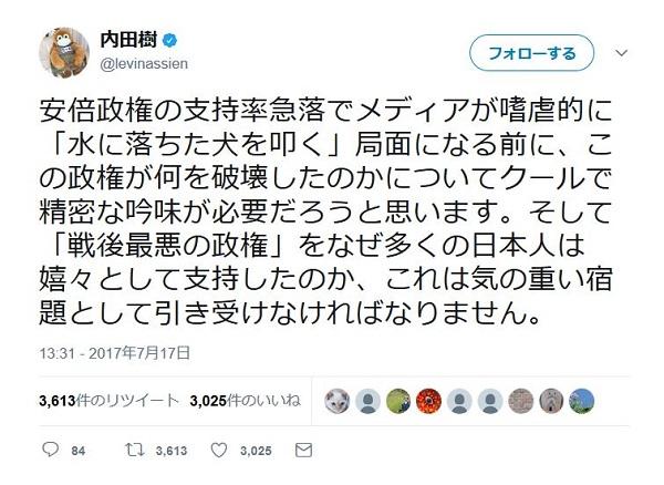 内田樹さんのツイート