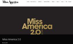 ミス・アメリカの公式サイトのキャプチャ