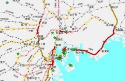 画像は東京都が10月末に公開した資料のキャプチャ。星は競技会場の場所。