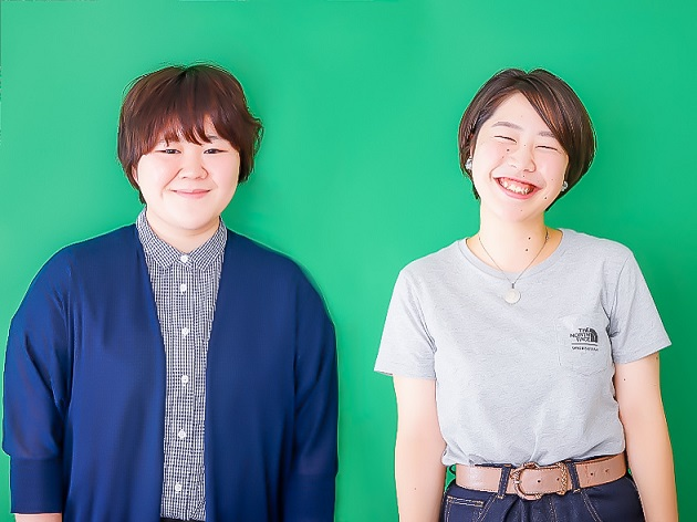ChoiceRESERVE事業部 お客様支援チームの上宇都 瑛子(左)と小濵 早貴(右)