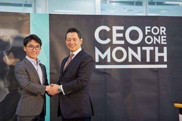 2018年度CEO for One Month日本代表の小杉山さんと、アデコ代表取締役社長の川崎