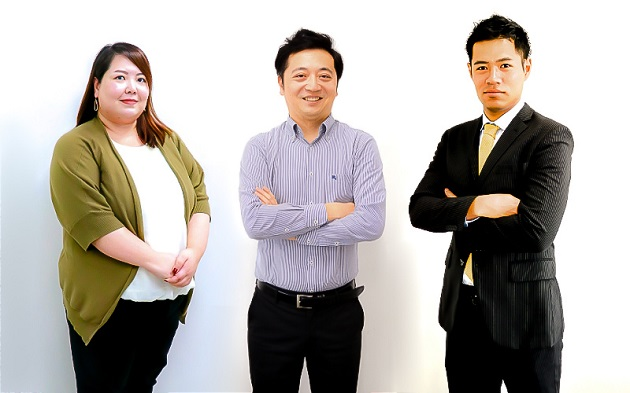 (左から)横田 恵美、遅 挺、熊倉 宏紀