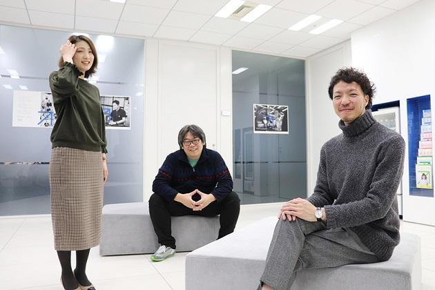 写真左から藤井聡子、2人をサポートしてきた開発本部の山田達也、山口直哉