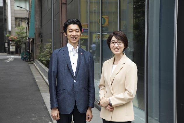 ▲右/椎葉怜子さん 左/成瀬岳人