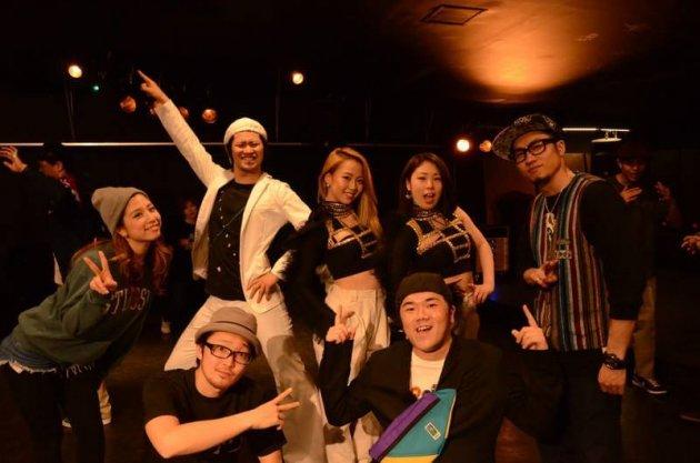 ▲学生時代のダンス仲間と
