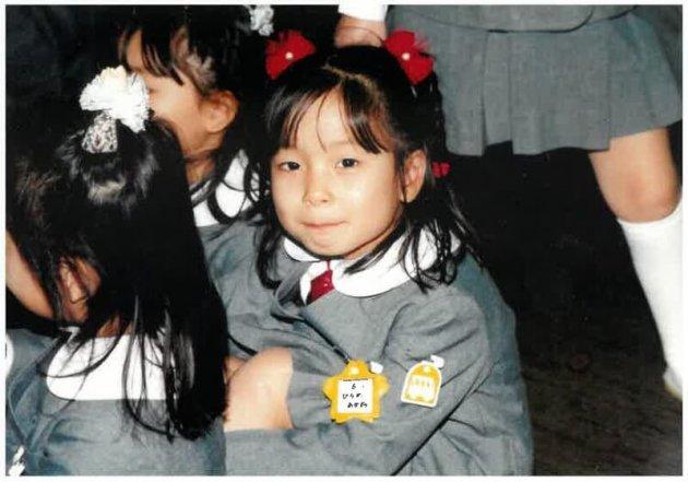 ▲平野茜(幼稚園時代)。当時は周りの目が気になる性格だった