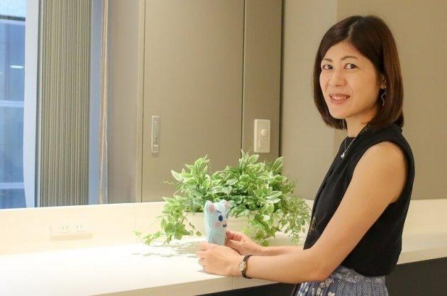 ▲南澤が手縫いで仕上げたリックソフトマスコットキャラクターのりっくまは今や人気者!