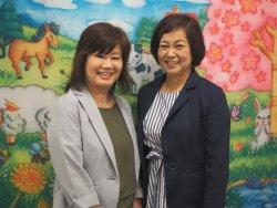 ▲2019年現在の山岡直美(左)・染谷裕子(右)