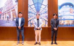 ▲グローバルEC事業の拡大に携わる、増田直(写真 左) 山崎雄也(写真 中央) 岡山拓(写真 右)