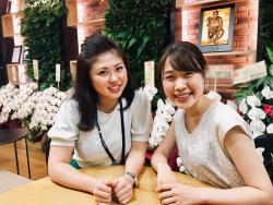 ▲2019年入社 長澤真珠(左)中村もも(右)