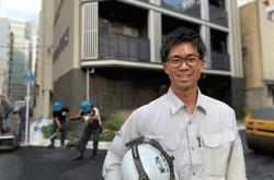 ▲新築マンションの現場監督を務める建築工事第1部の小山敢太