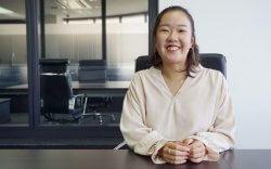 ▲学生団体の活動規模を広げるために関西の大学へ行き「飛び込み営業をしてきました」と笑顔で話す沼尻
