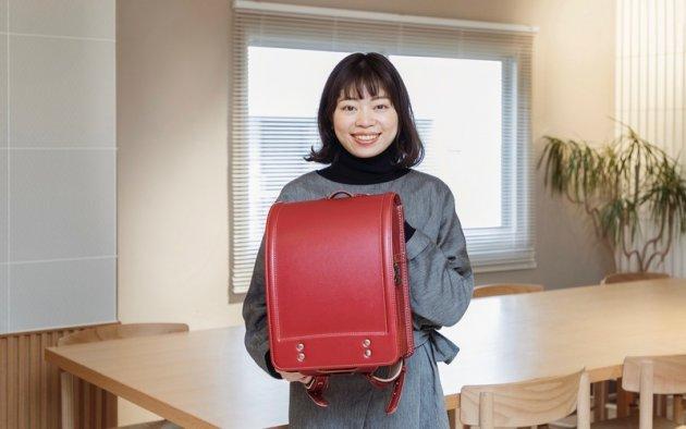 ▲ランドセル事業部で販促企画を担当している木村萌