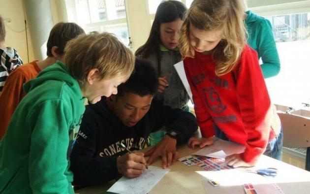 ▲大学時代、オランダのイエナプランへ視察研修