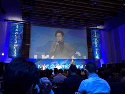 ▲数々の講演・セミナー、自社イベントに登壇し、ニトリの人事・組織について伝えている永島