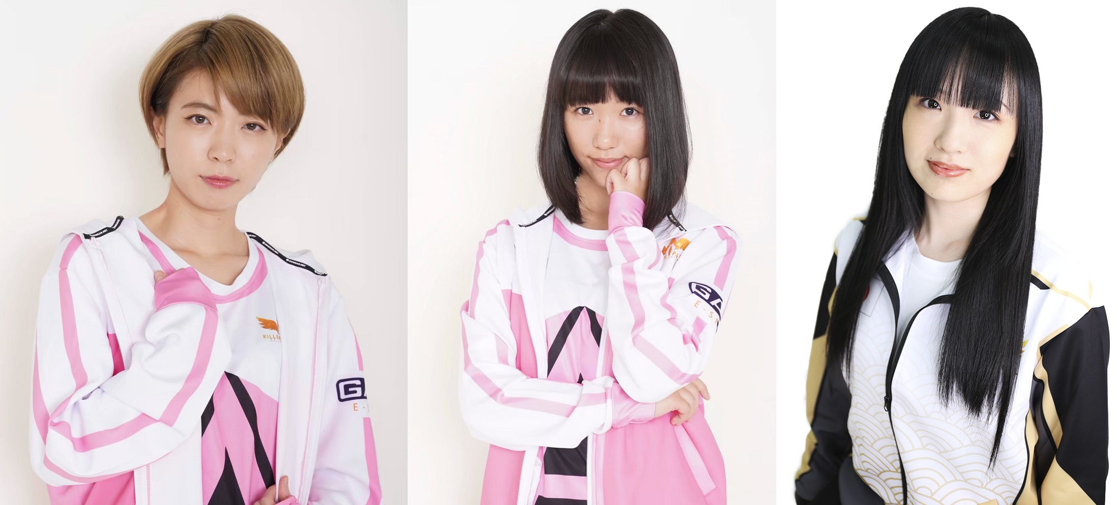eSportStarsに参画するJapan Killer AngelのSuzuさん(左)、Nemumiさん(中央)、YUUUUUUUKAさん(右)