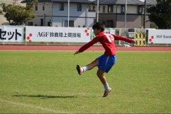 ▲学生時代のサッカーシーン