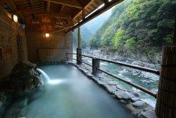 「日本三大秘境」祖谷(いや)温泉からの眺め(三好市プレスリリースより)