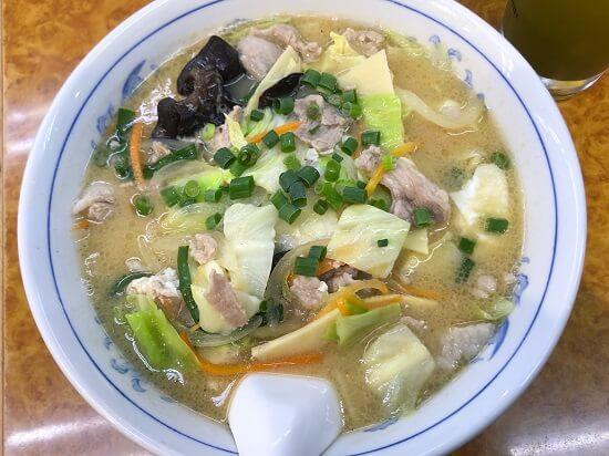 大船駅の石狩亭「豚汁麺」