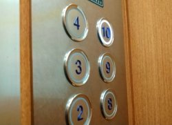 エレベーターに……