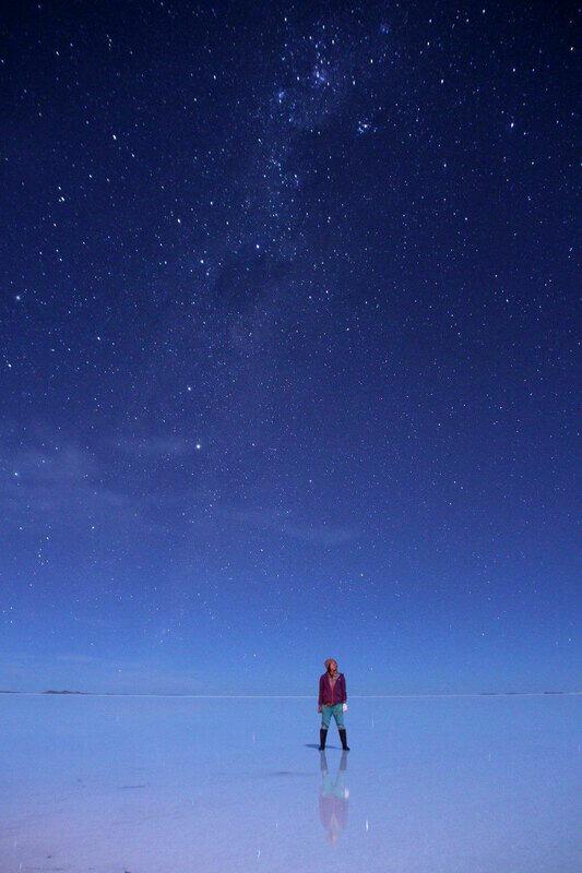 ▲バックパッカーとして訪れたボリビアのウユニ塩湖